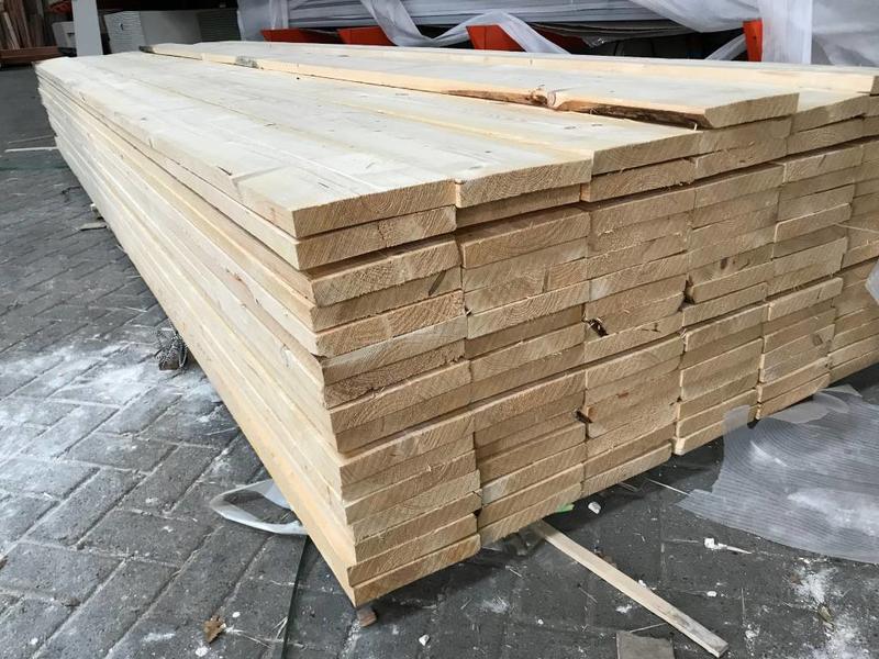 Van Gelder Hout Vuren Steigerplank 32 x 200 mm (3.2 x 20 cm) Ruw (Gedroogd)
