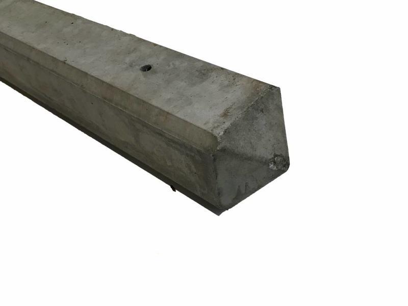 Tuindeco Hoek-betonpaal lichtgrijs diamant kop