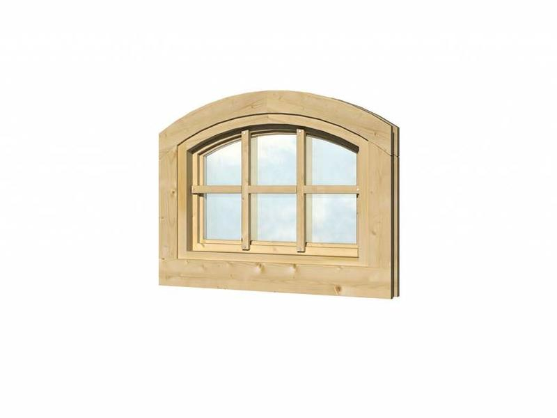 Tuindeco Vuren vast raam en kozijn met roedes W7 Stalraam model | B70xH50cm