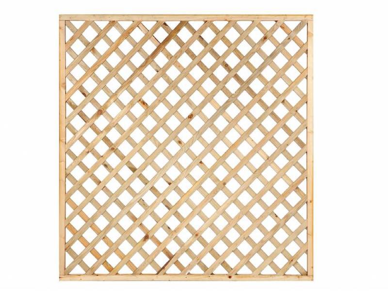 Tuindeco Trellis diagonaal met rechte lijst