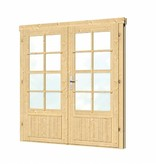 Tuindeco Vuren dubbele deur en kozijn dubbel glas DL7 | B159.0xH188.0cm