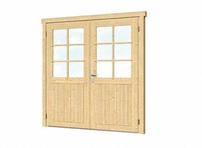Vuren dubbele deur XL 174x209cm rechtsdraaiend