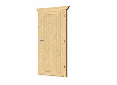 Vuren deur met kozijn D5 rechtsdraaiend