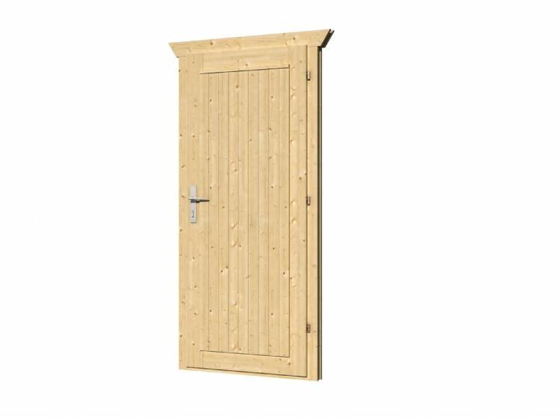 Tuindeco Enkele vuren deur met kozijn D5 Rechtsdraaiend | B83xH190cm