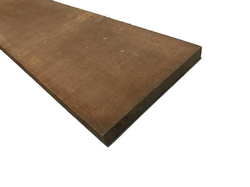 Van Gelder Hout Hardhout plank 20cm breed