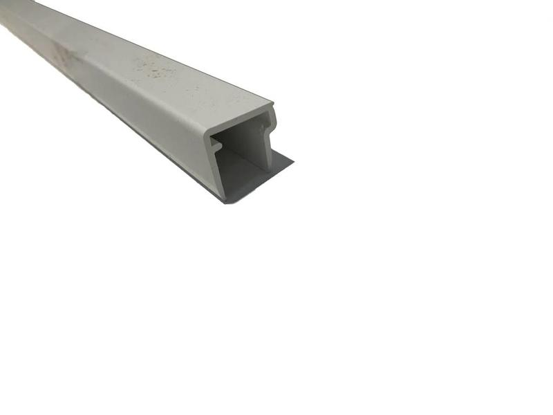 Van Gelder Hout Afsluitprofielen 98 cm Wit PVC voor Afsluiten Polycarbonaat Dakplaat