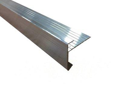 Aluminium daktrim 45/45 x 2500mm