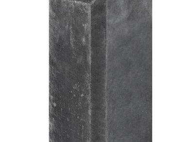 Betonpaal antraciet met halfronde kop en vellingkant