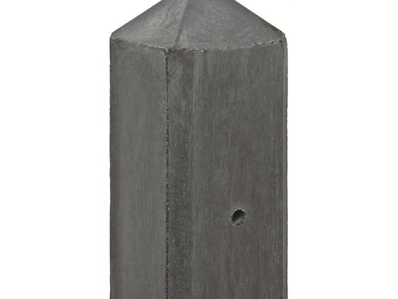 Tuindeco Betonpaal antraciet lichtgewicht met diamantkop en vellingkant