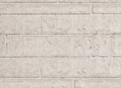 Beton schutting motiefplaat rotsmotief lichtgrijs
