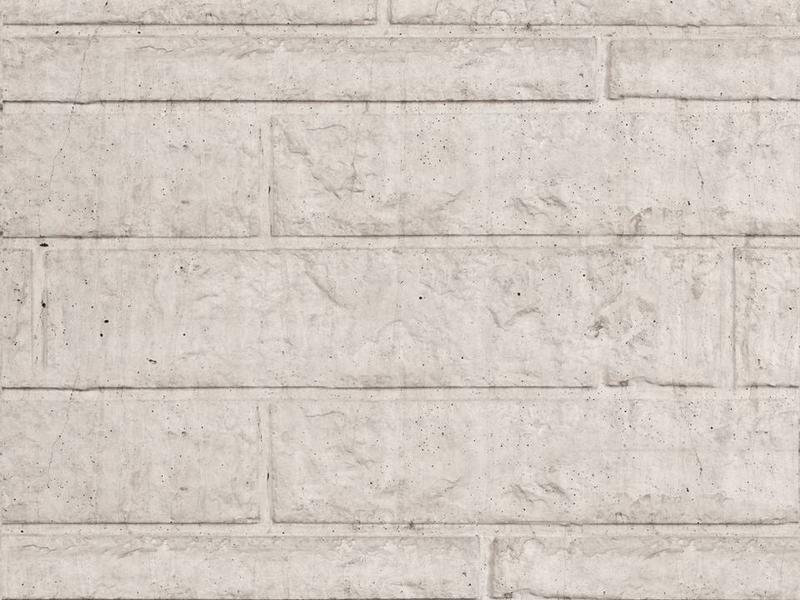 Tuindeco Beton Schutting onderplaat rotsmotief lichtgrijs