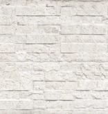 Tuindeco Beton Schutting onderplaat leisteen motief lichtgrijs