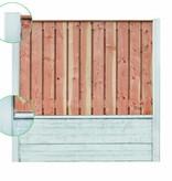 Tuindeco Betonpaal antraciet voor 2 motiefplaten met diamantkop en vellingkant