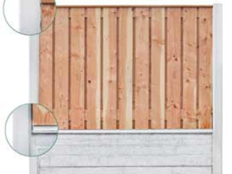 Tuindeco Beton Schutting onderplaat leisteen motief antraciet