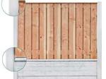 Tuindeco Beton Schutting onderplaat rotsmotief antraciet