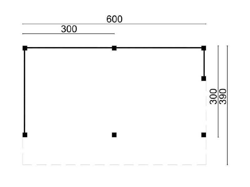 Tuindeco Kapschuur Tongeren 600x300cm DHZ