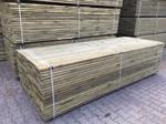 Tuindeco Vlonder planken 28x145mm Groen geïmpregneerd