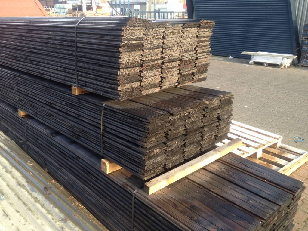 Zweeds rabat zwart gedompeld douglas hout houthandel van gelder