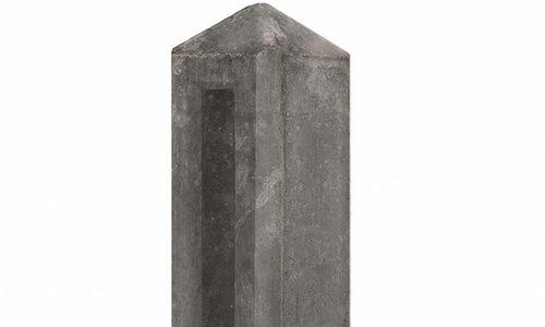 Tuinhek betonpalen antraciet