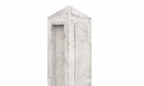 Tuinhek betonpalen grijs