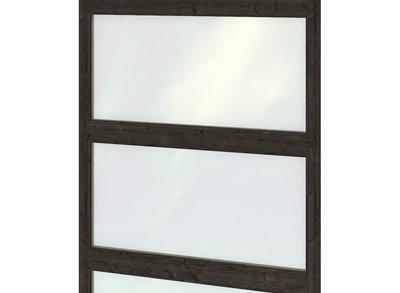 Glaswand dubbele wandmodule modern zwart gespoten