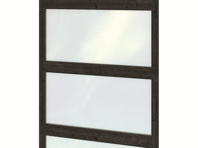 Tuindeco Glaswand dubbele wandmodule modern zwart gespoten