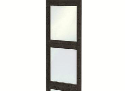Glaswand enkele wandmodule modern zwart gespoten