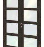 Tuindeco Dubbele deurmodule modern zwart gespoten