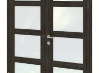 Dubbele deurmodule modern zwart gespoten