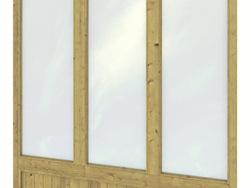 Tuindeco Geïmpregneerde wandmodule triple