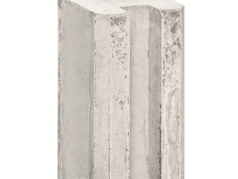 Tuindeco Sleufpaal Lichtgrijs met Vellingkant | Lengte 270cm