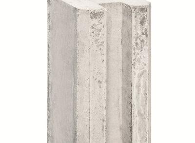 Sleufpaal Lichtgrijs met Vellingkant 280cm