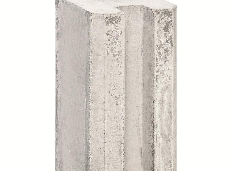 Tuindeco Sleufpaal Lichtgrijs met Vellingkant | Lengte 280cm
