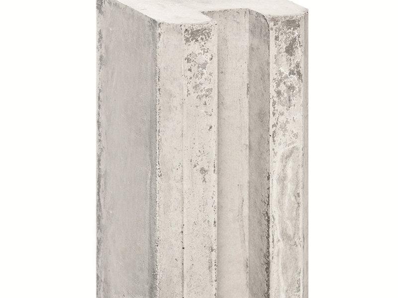 Tuindeco Sleufpaal Lichtgrijs met Vellingkant | Lengte 316cm