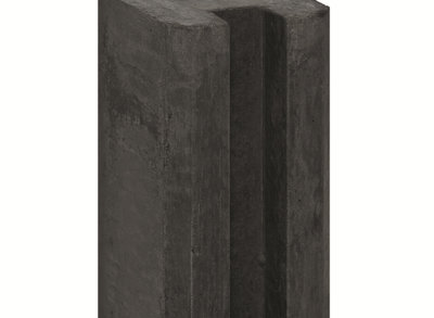 Sleufpaal Antraciet met Vellingkant 270cm
