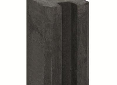 Sleufpaal Antraciet met Vellingkant 280cm