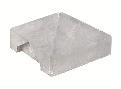 Afdekpet voor betonpaal lichtgrijs