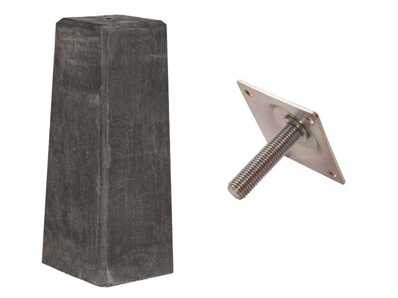 Tuindeco Betonpoer DeLuxe 20x23.5x50cm met stelplaat