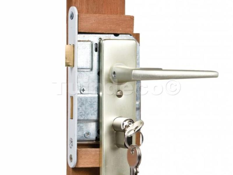 Tuindeco Eindplank hardhout voor ijzeren deurframe