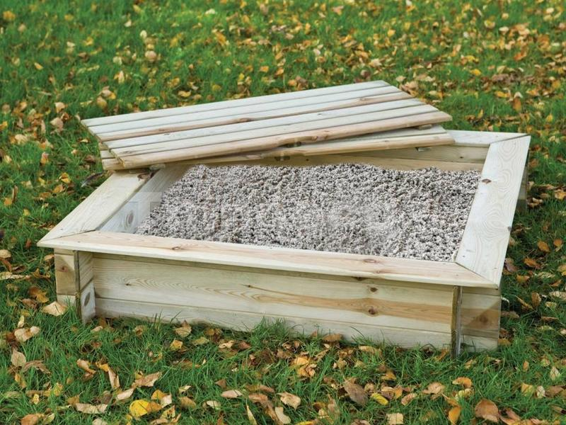 Tuindeco Zandbak vierkant met deksel