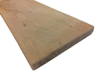 Eiken plank 22x200 mm Fijnbezaagd