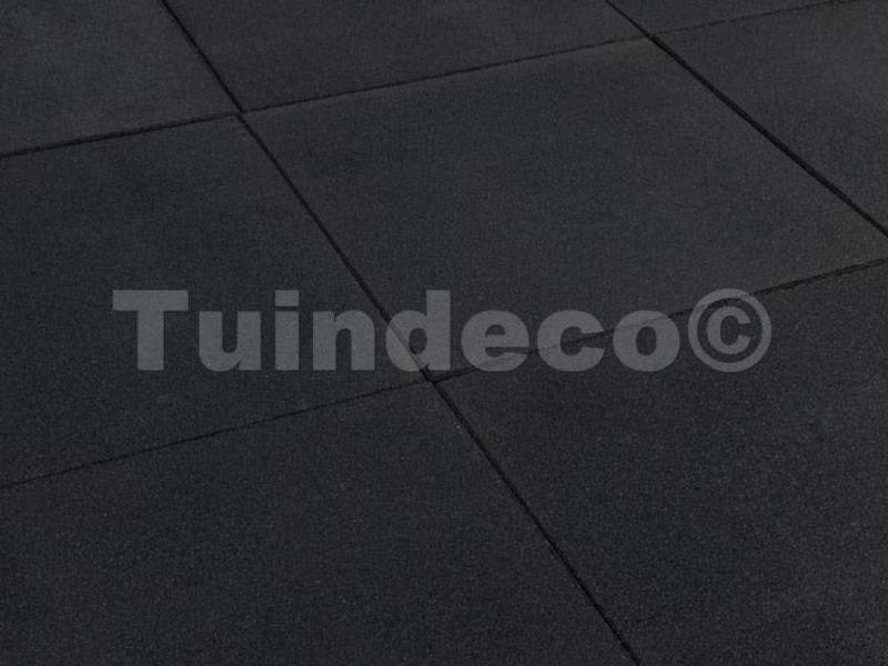 Tuindeco Rubber tegels zwart