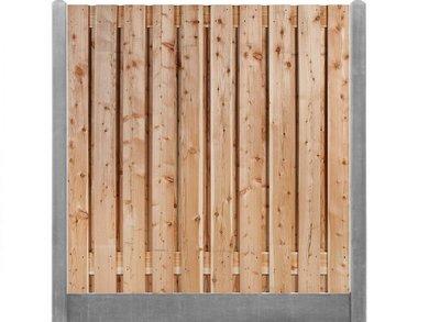 Douglas hout Beton schutting pakket grijs 17-planks