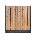 Douglas hout beton schutting pakket antraciet 17-planks