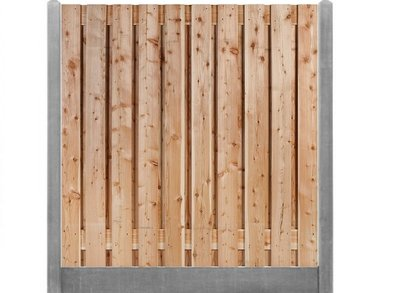 Douglas hout beton schutting pakket grijs 19-planks