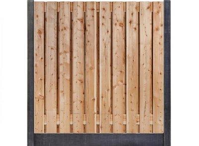 Douglas hout beton schutting pakket antraciet 19-planks