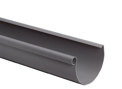 Pvc dakgoot 125 mm met kraal