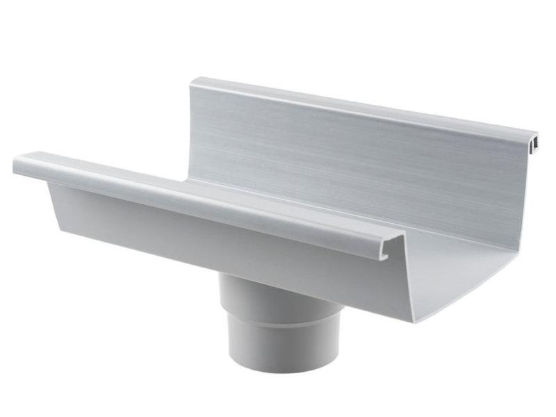 Een rechthoekige dakgoot van 140 mm