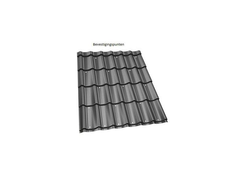 Van Gelder Hout Dakpanplaat zwart 112 x 190 cm