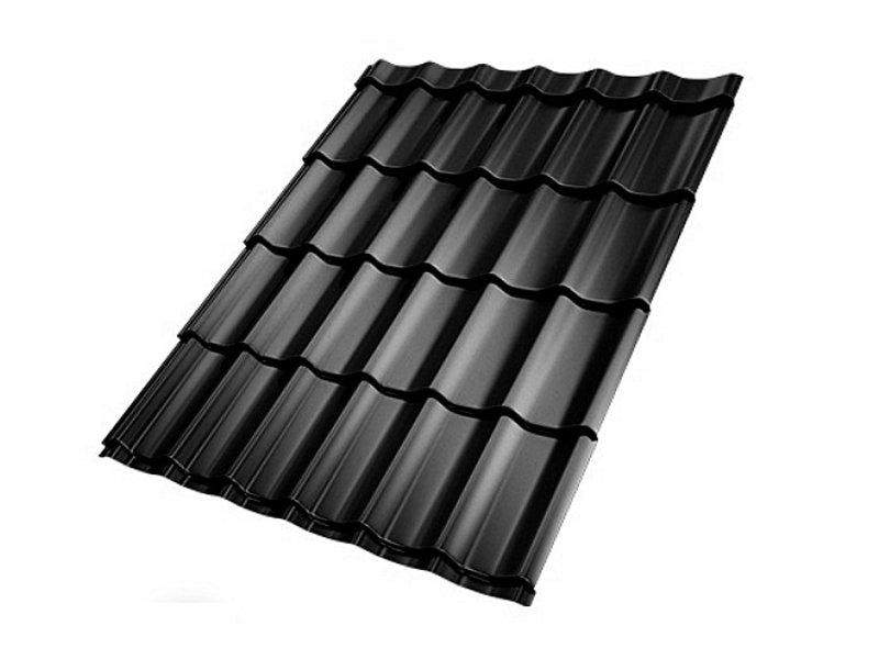 Van Gelder Hout Dakpanplaat zwart 112 x 295 cm